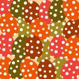 Красочные пасхальные яйца на безшовной предпосылке Стоковое Изображение