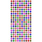 Красочные передвижные значки с кругом бесплатная иллюстрация