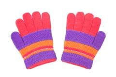 Красочные перчатки для детей стоковые фото