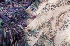 Красочные пестрые ткани Стоковое Изображение RF