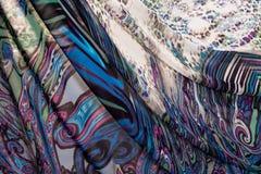 Красочные пестрые ткани Стоковое Изображение