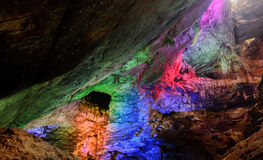 Красочные пещеры Borra loacted на восточном побережье Индии стоковые изображения rf