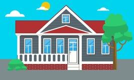 Красочные плоские жилые дом или коттедж таунхауса также вектор иллюстрации притяжки corel иллюстрация штока