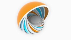 Красочные полусферы или шары приспосабливать один другого дизайн 3D, различный размер или пластмассы связали loopable анимация иллюстрация вектора