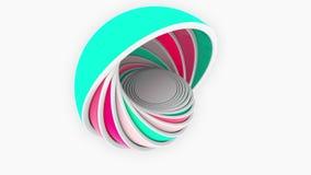 Красочные полусферы приспосабливать один другого Дизайн, размер или анимация пластмасс родственная бесплатная иллюстрация