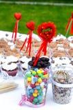 Красочные помадки с сердцами Стоковое Фото