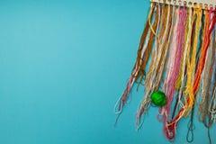 Красочные потоки установили для needlework стоковые изображения