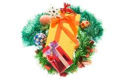 Красочные подарочные коробки красивые Изолированная белая предпосылка Стоковая Фотография RF