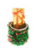 Красочные подарочные коробки красивые Изолированная белая предпосылка Стоковая Фотография