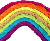 Красочные полотенца Terry в форме радуги Стоковое Изображение