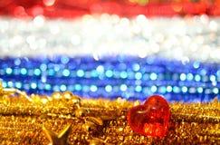 Красочные праздничные предпосылка, блеск и сердце Стоковое Фото
