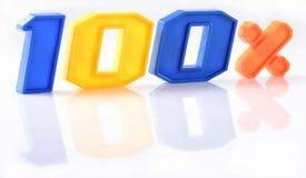 Красочные 100 процентов с отражением на белизне Стоковые Фотографии RF