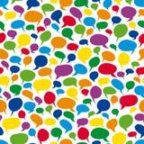 Красочные пузыри речи - бесконечно иллюстрация вектора