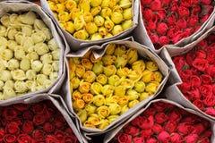 Красочные пуки роз Стоковые Изображения RF
