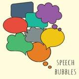 Красочные пустые пузыри речи Стоковое фото RF