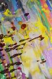 Красочные пятна воска watercor радуги, творческий дизайн Стоковые Фотографии RF