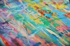 Красочные пятна watercor радуги, творческий дизайн Стоковые Изображения RF