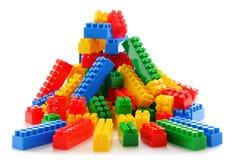 Красочные пластичные игрушки детей на белой предпосылке Стоковые Фото