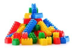 Красочные пластичные игрушки детей на белой предпосылке Стоковые Изображения RF