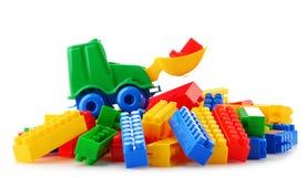 Красочные пластичные игрушки детей на белой предпосылке Стоковое фото RF