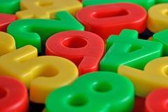 Красочные пластичные номера Стоковое Изображение