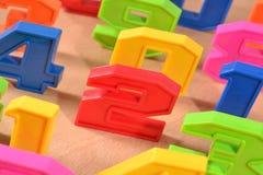 Красочные пластичные номера Стоковое Фото