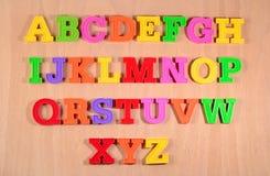 Красочные пластичные письма алфавита Стоковая Фотография RF