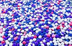 Красочные пластичные шарики Стоковая Фотография