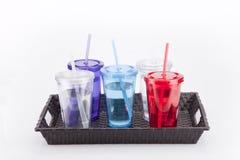 Красочные пластичные tumblers Стоковое Изображение RF
