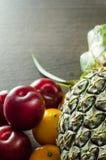 Красочные плодоовощи на таблице Стоковые Изображения