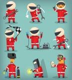 Красочные работники гонки Стоковые Фотографии RF