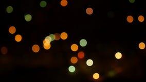 Красочные расплывчатые света проблескивая на черной предпосылке 1920x1080, полное hd сток-видео