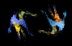 Красочные руки Стоковые Изображения RF