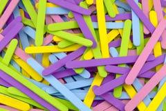Красочные ручки Popsicle стоковая фотография rf