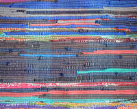 Красочные ручной работы пестрые половик или ковер Стоковые Фотографии RF