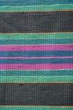 Красочные ручной работы пестрые половик или ковер Стоковое Фото