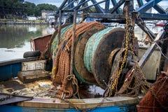 Красочные рыболовные принадлежности стоковые изображения