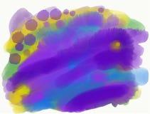 Красочные рыбы кораллового рифа тропические Печать акварели, предпосылка иллюстрация штока