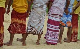 Красочные саронги Стоковое Фото