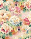 Красочные сделанные по образцу заводы и цветки Стоковые Фото