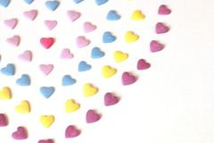 Красочные сердца формируя форму стоковое фото rf