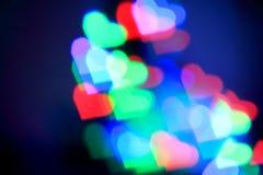 Красочные сердца bokeh Стоковая Фотография RF