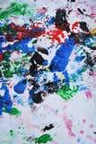 Красочные синие розовые цвета и оттенки Абстрактная влажная предпосылка краски Пятна картины стоковое фото