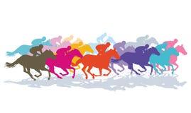 Красочные скакать лошади иллюстрация вектора