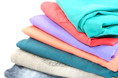 Красочные сложенные джинсы стоковое изображение rf