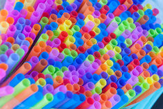 Красочные соломы питья Стоковая Фотография