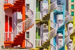 Красочные спиральные лестницы деревни Bugis Стоковое Изображение