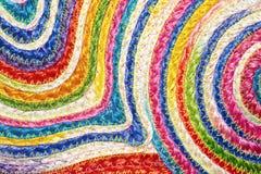 Красочные сплетенные taxtures & предпосылка половика шерстей сизаля Стоковое Изображение