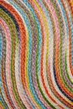 Красочные сплетенные taxtures & предпосылка половика шерстей сизаля Стоковые Изображения RF