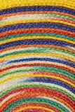 Красочные сплетенные taxtures & предпосылка половика шерстей сизаля Стоковые Фотографии RF